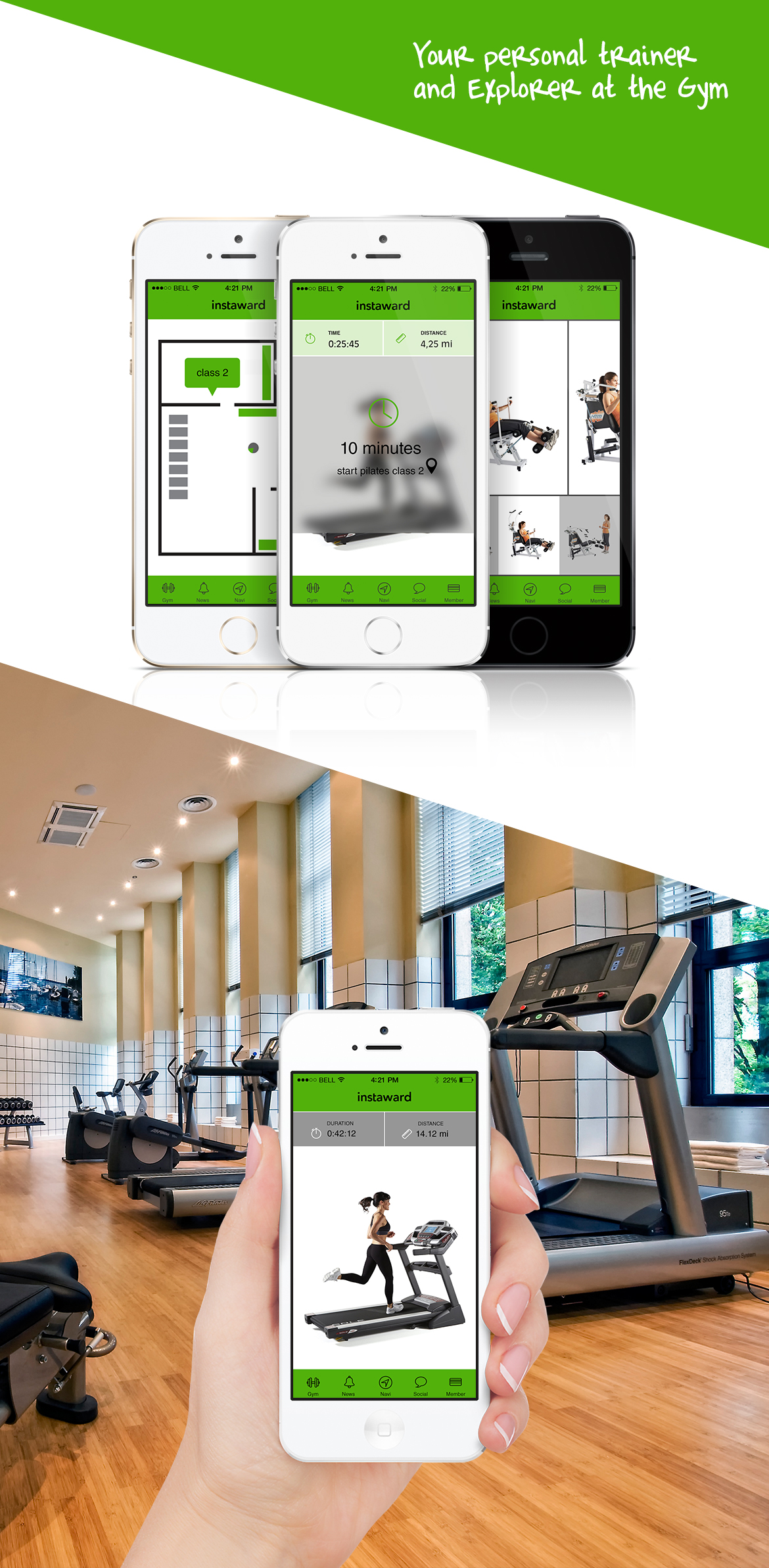 InstawardGymLong Fitness Centre, Instaward Communication Platform