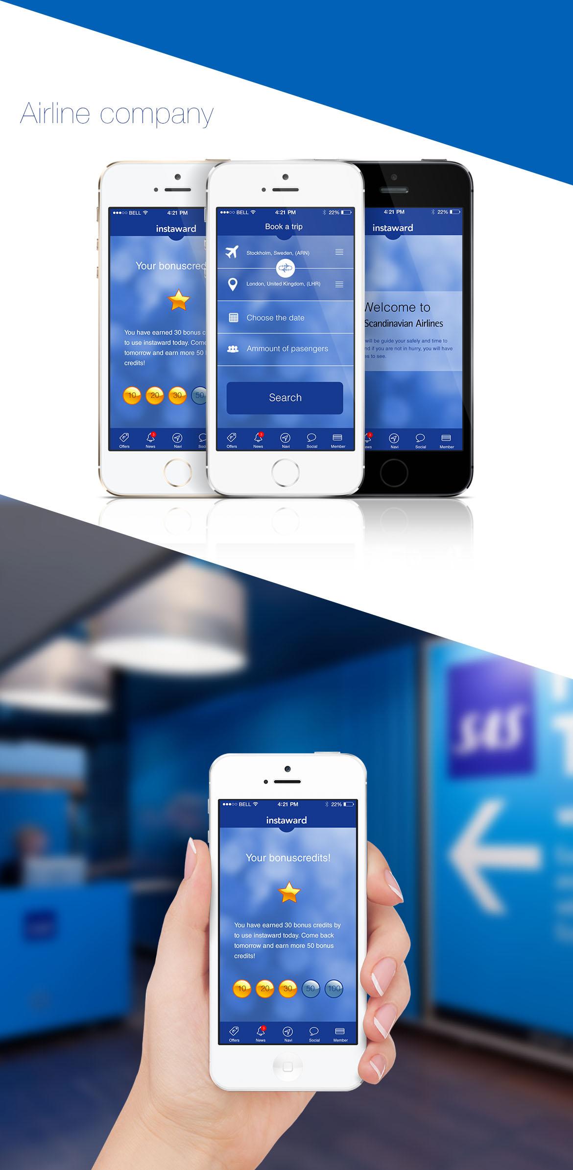 InstawardAirlineCompany long Airline companies, Instaward Communication Platform